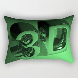 3D in metallic green Rectangular Pillow