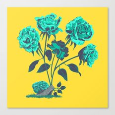 Snails N' Roses Canvas Print