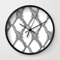 batik Wall Clocks featuring Batik by Dream Of Forest