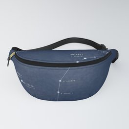Scorpius constellation star map Fanny Pack