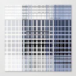 white blue plaid Canvas Print