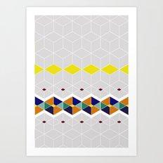 Cube Geometric IV Art Print
