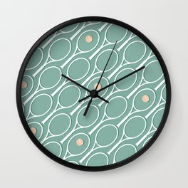 Sea Tennis #society6 #decor #buyart Wall Clock