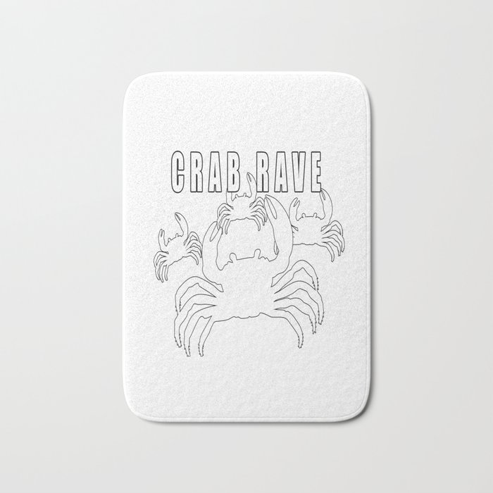 Crab Rave Meme Bath Mat By Desteesigners Society6