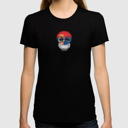Baby Owl with Glasses and Serbian Flag T-shirt