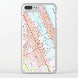 Vintage Map of Daytona Beach Florida (1952) Clear iPhone Case