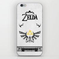 the legend of zelda iPhone & iPod Skins featuring Zelda legend - Hyrulian Emblem by Art & Be