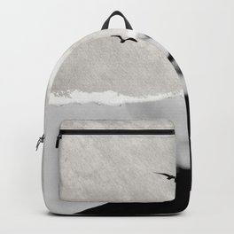 minimal collage /silence Backpack