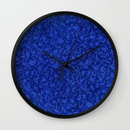 Vintage Floral Sapphire Blue Wall Clock