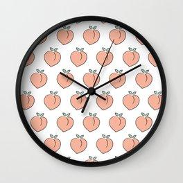 Cute Peaches Wall Clock