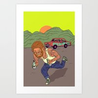 teen wolf Art Prints featuring Teen wolf  by Zé Burnay
