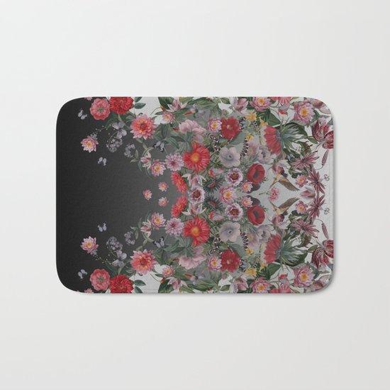 Flowers and Animals Bath Mat