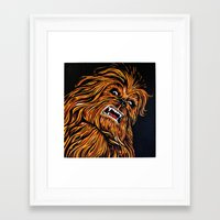 chewbacca Framed Art Prints featuring Chewbacca by Laura-A