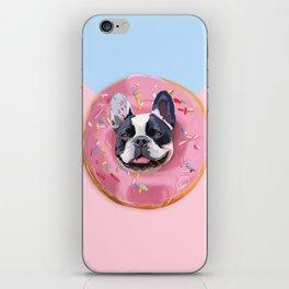 French Bulldog Donut iPhone Skin
