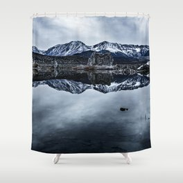 MONO LAKE WINTER Shower Curtain