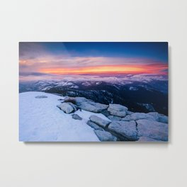Lenticular Sunset Metal Print