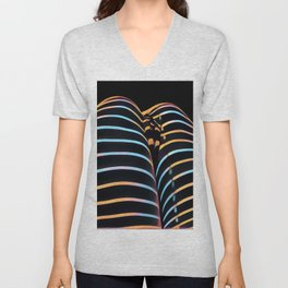 2634s-AK Striped Thighs Bottoms Up Intimate Abstract by Chris Maher Unisex V-Neck