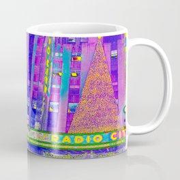 Radio City Music Hall with Holiday Tree, New York City, New York Coffee Mug