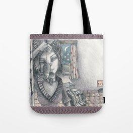 Cat metamorphosed Tote Bag