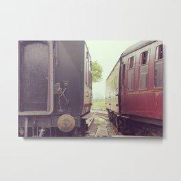 Vintage Railway Carriages Metal Print