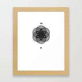 Mesh Geometry II White Framed Art Print