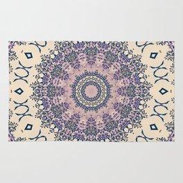 No. 20 Wisteria Arbor Way Regal Purple & Ivory Hugs and Kisses Mandala Rug