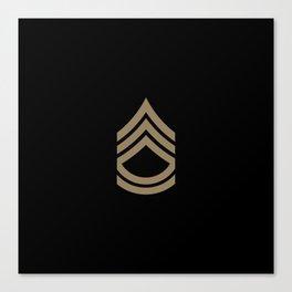Sergeant First Class (Brown) Canvas Print
