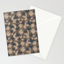 Blue butterflies Stationery Cards