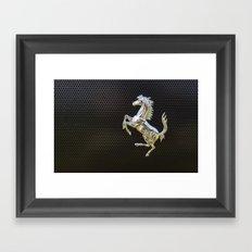 Ferrari chrome emblem  Framed Art Print