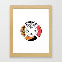 4 fire fans for any case Framed Art Print
