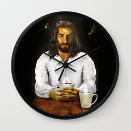 Coffee With Jesus Wall Clock