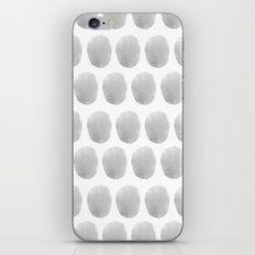 Watercolour polkadot grey iPhone & iPod Skin