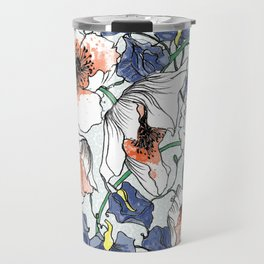 Poppys and Sweetpeas Travel Mug