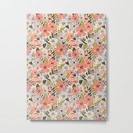 Eternity soft florals. Metal Print
