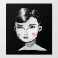 audrey hepburn Canvas Prints featuring Audrey Hepburn by Maripili