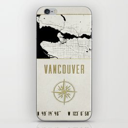 Vancouver - Vintage Map and Location iPhone Skin