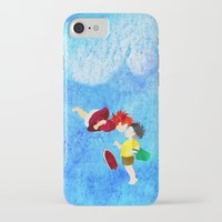 ponyo iPhone & iPod Cases featuring Ponyo and Sosuke by foreverwars