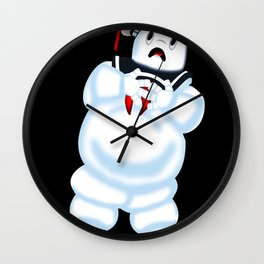 Scared Mr. Stay Puft Wall Clock