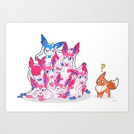Sylveon Pile Art Print