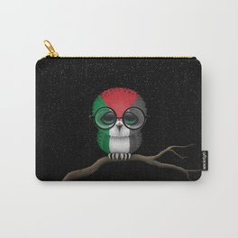 Baby Owl with Glasses and Palestinian Flag Carry-All Pouch