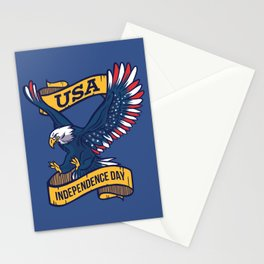 USA Independence Day July 4th Stationery Cards