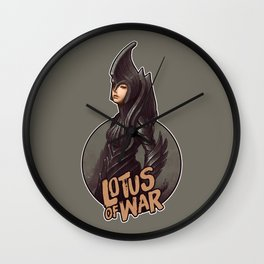 Lotus of War Wall Clock