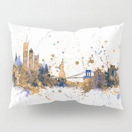 New York Skyline Cityscape Pillow Sham