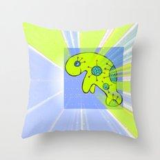 Purple Manatee Throw Pillow