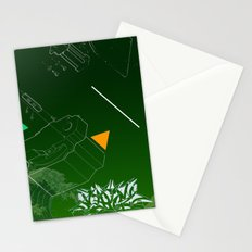 Green Wave Stationery Cards