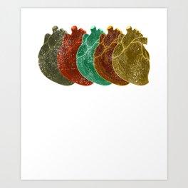 Anatomical Human Heart Vintage design design Gift for doctor Art Print