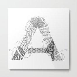 """Zenletter """"A"""" Metal Print"""