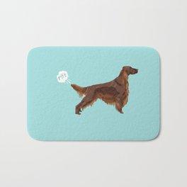 Irish Setter farting dog cute funny dog gifts pure breed dogs Bath Mat