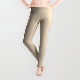 Novelle Peach Double Spanish White Leggings
