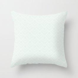 Paris Pastel - Soft Light Green Mid Century Modern Pattern Throw Pillow